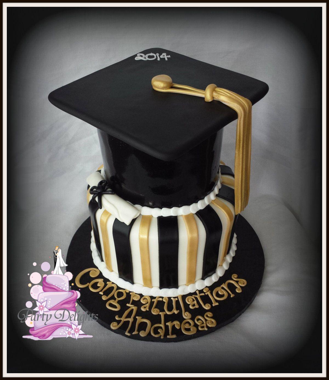 Silver Black Gold Graduation Cupcakes