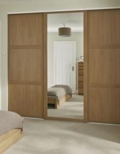 The shaker panel  mirror wardrobe door in oak suits  variety of interiors and doors can be used together or on their own also with more spare rooms rh uk pinterest
