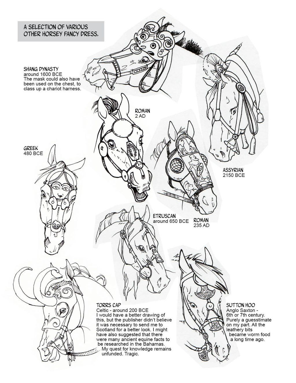 Historic Horse Head Gear Part 2 By Sketcherjakviantart