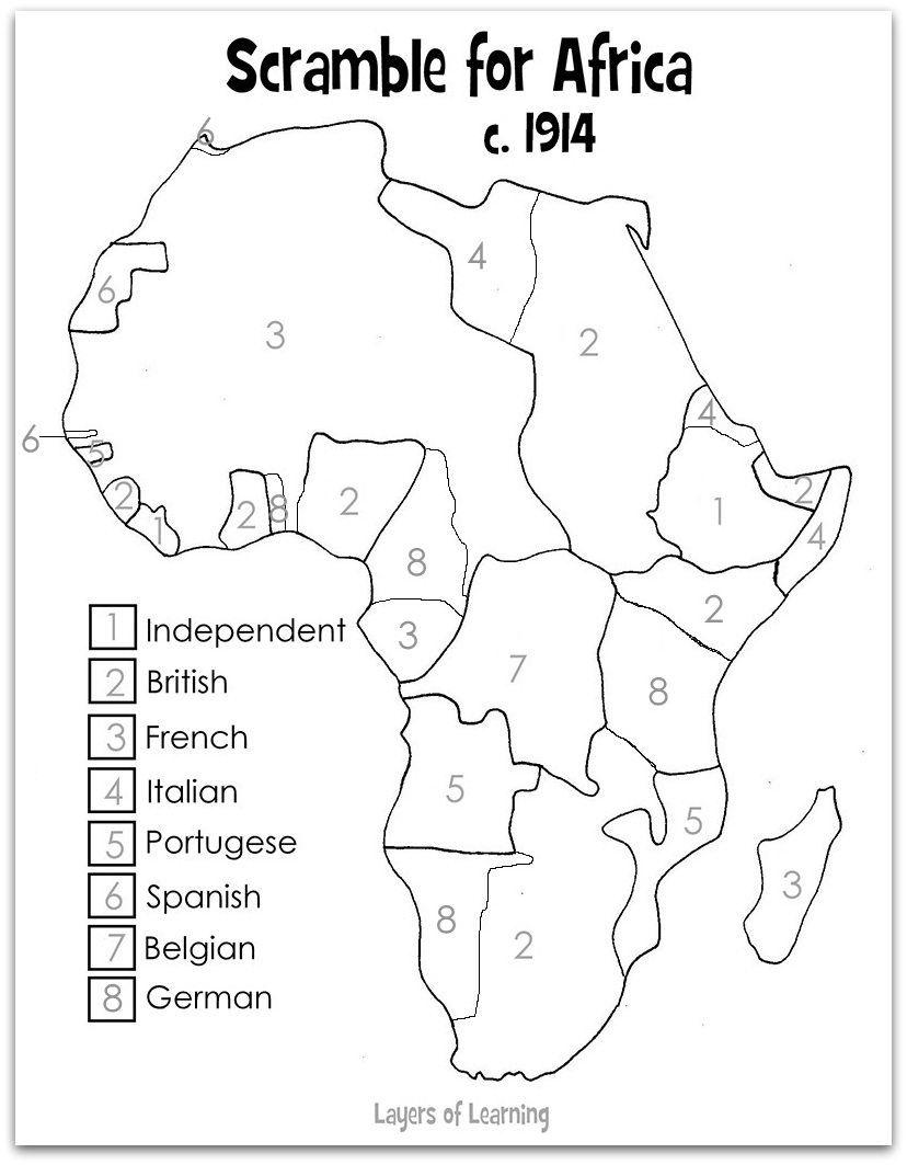 Scramble Africa Map Eve