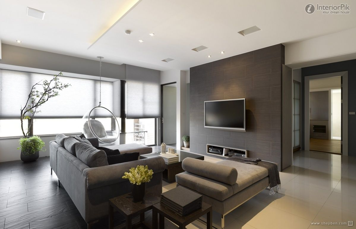 Encyclopedia of contemporary small apartment living room