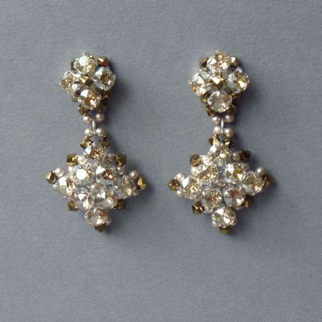 Souk Earrings In Gold Rene Walrus Statement Chandelier Style