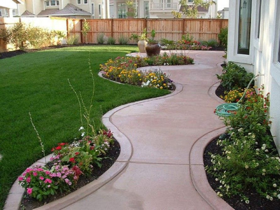 Landscape Island Front Yard For Cheap Landscaping Ideas For Small