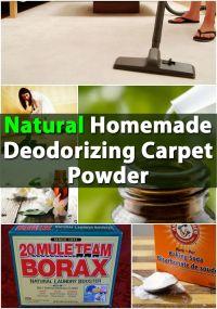 Natural Homemade Deodorizing Carpet Powder | Home ...
