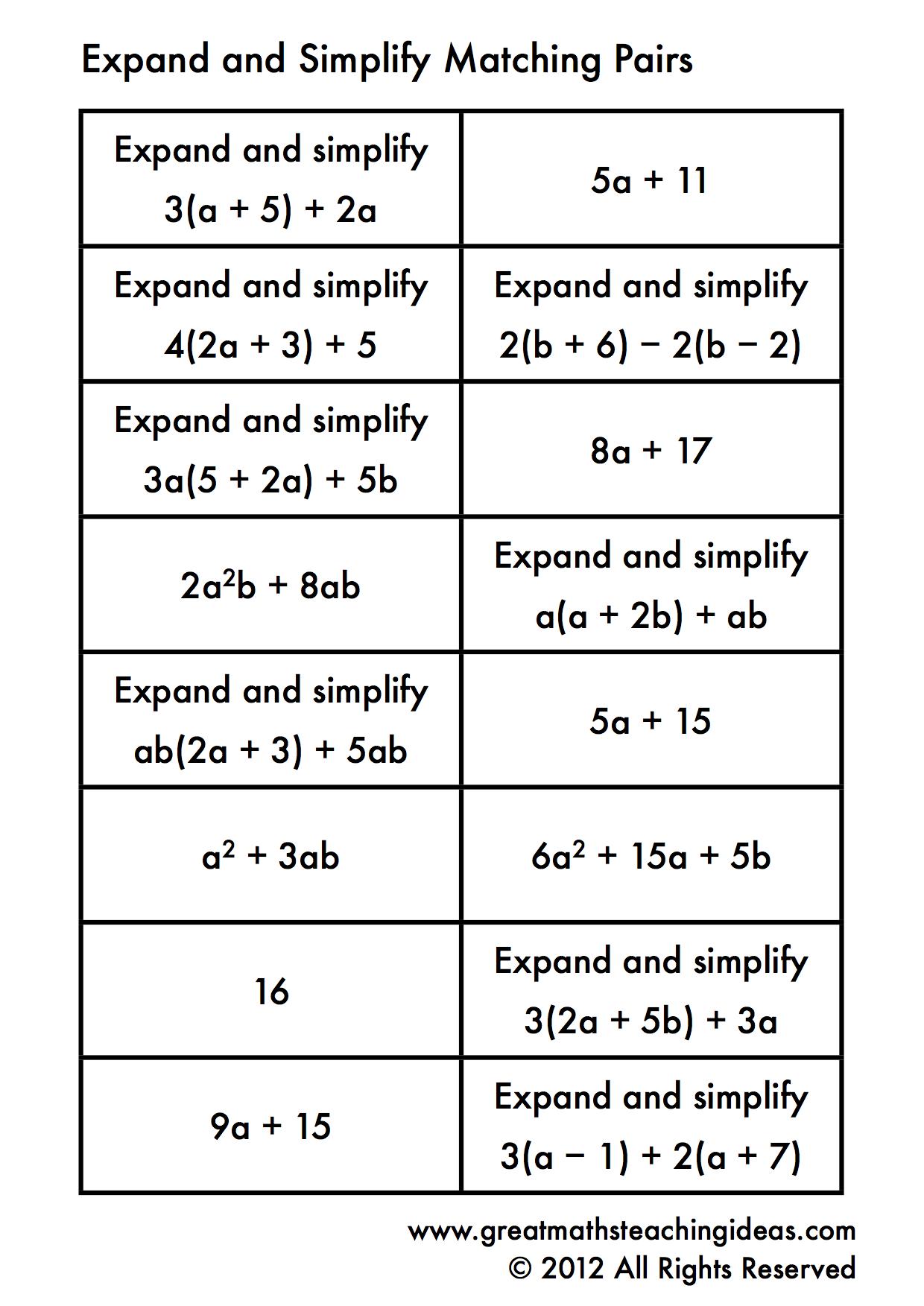 Negative Exponents Worksheet Easy