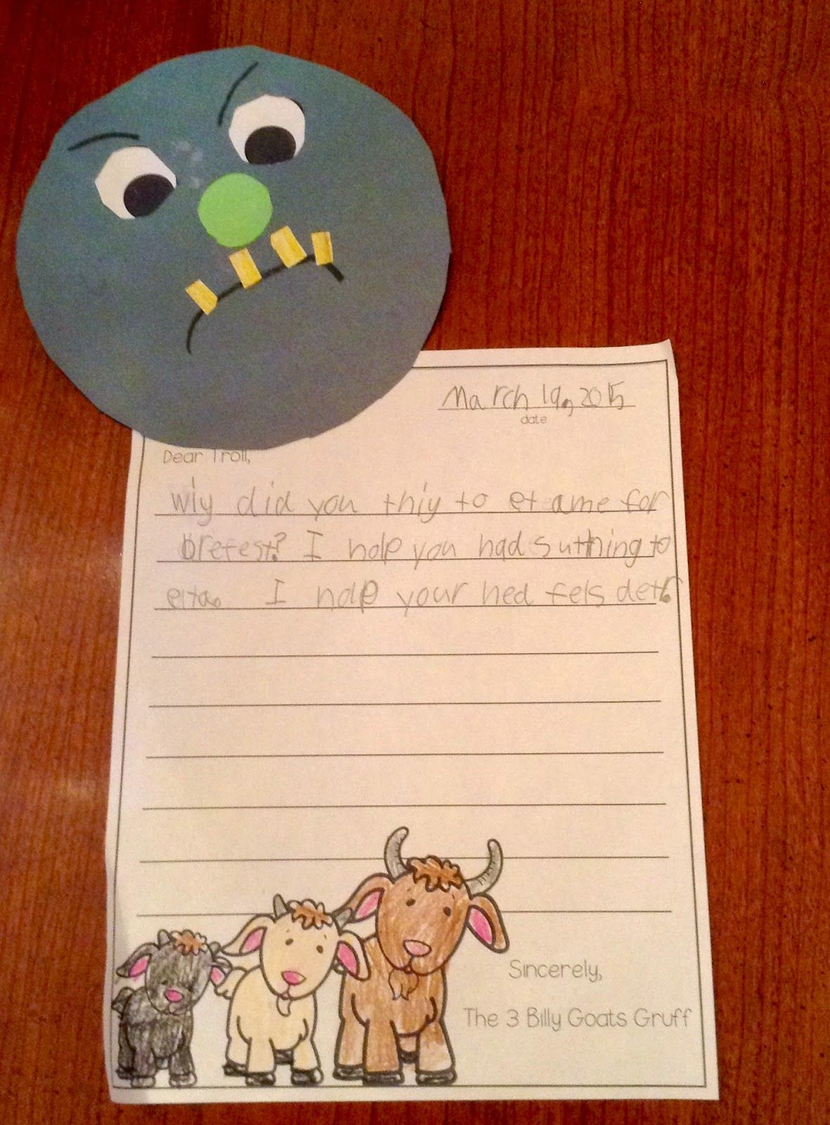 Letter To The Troll From The 3 Billy Goats Gruff
