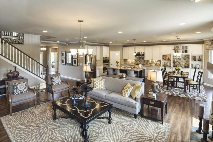 350 Great Room Design Ideas for 2018  Dark furniture