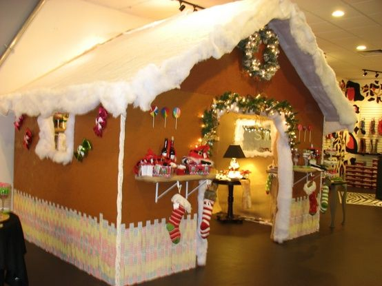 Life Size Gingerbread House Store Displays Pinterest