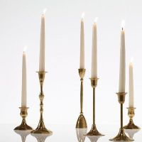 Small Antique Metal Candlestick Holder in Gold - 3.75 ...