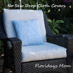 Sewing Patterns For Chair Cushions Dog Grooming Chairs No Sew Drop Cloth Cushion Covers Favorite Places