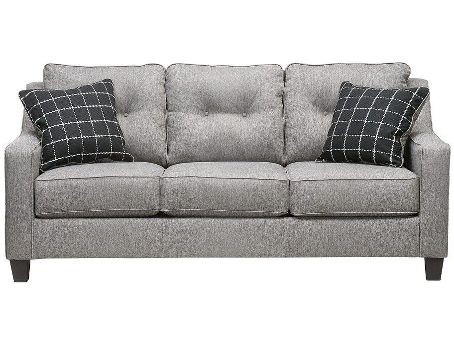Slumberland Aero Collection Charcoal Sofa Apartment