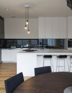 Kitchens also white  black kitchen pine floor brandlehow pinterest design rh