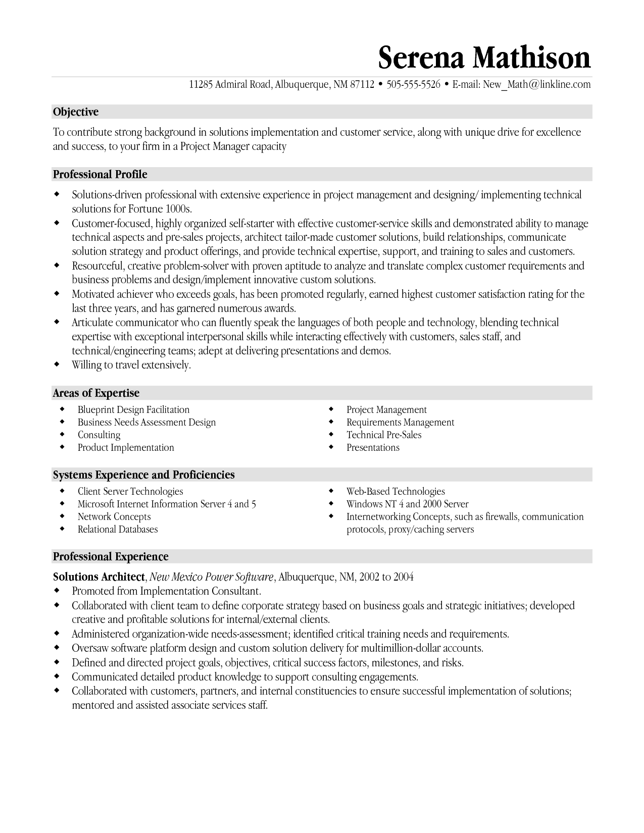 Resume Template Pinterest Resume Templates Project Manager Project Management