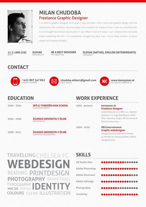 Inspiração De Currículos Infográficos Milan Graphic Design