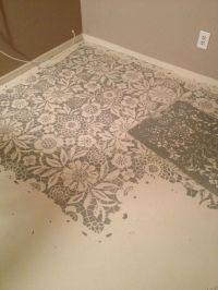 DIY: Dramatic Floor Stencils by | Floors/Under Foot ...
