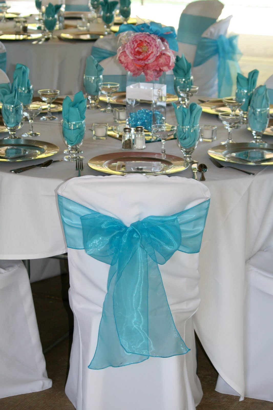 teal blue chair sashes modern armchair design wedding reception ideas for tables in pink and torqouise