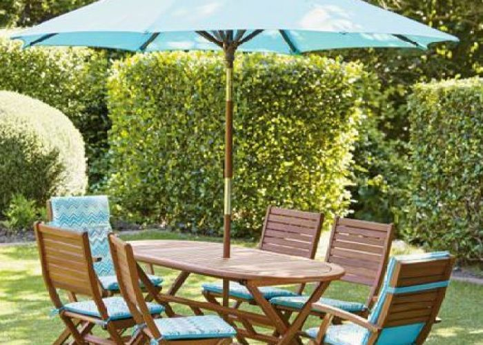Made from beautiful solid eucalyptus wood this peru garden furniture set is the  also breathe life into your with colour aqua bistro