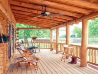 Log Porch Railing Kits Log Cabin Deck Railing, cabin decks ...