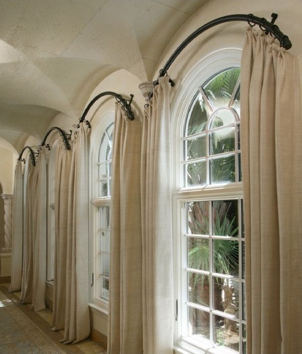 Arched Window Curtain Rod Home Projects Pinterest Window