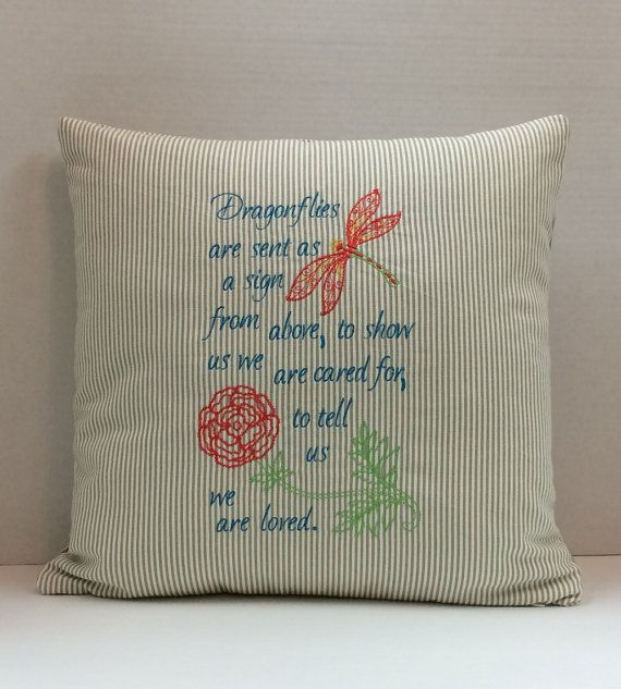 Sympathy Gift Memory Pillow Keepsake Pillow by