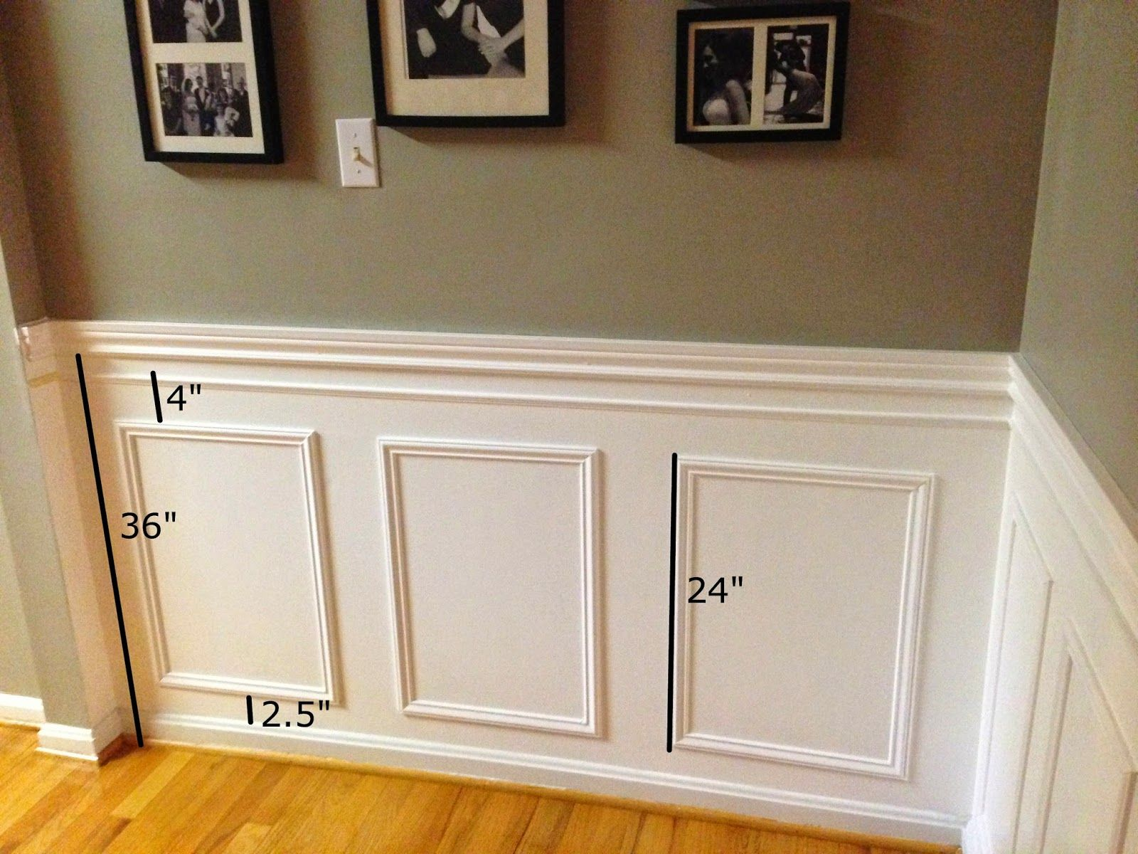 picture frame moulding below chair rail ergonomic vancouver little brick home how to install