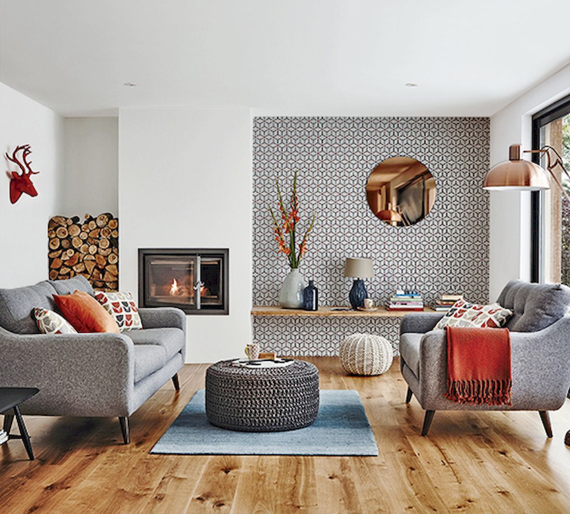 Cool mid century living room decor ideas https homevialand also rh pinterest
