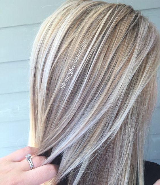 Blond Und Platinum Weiß Blonde Balayage Frisur Ideen 2017