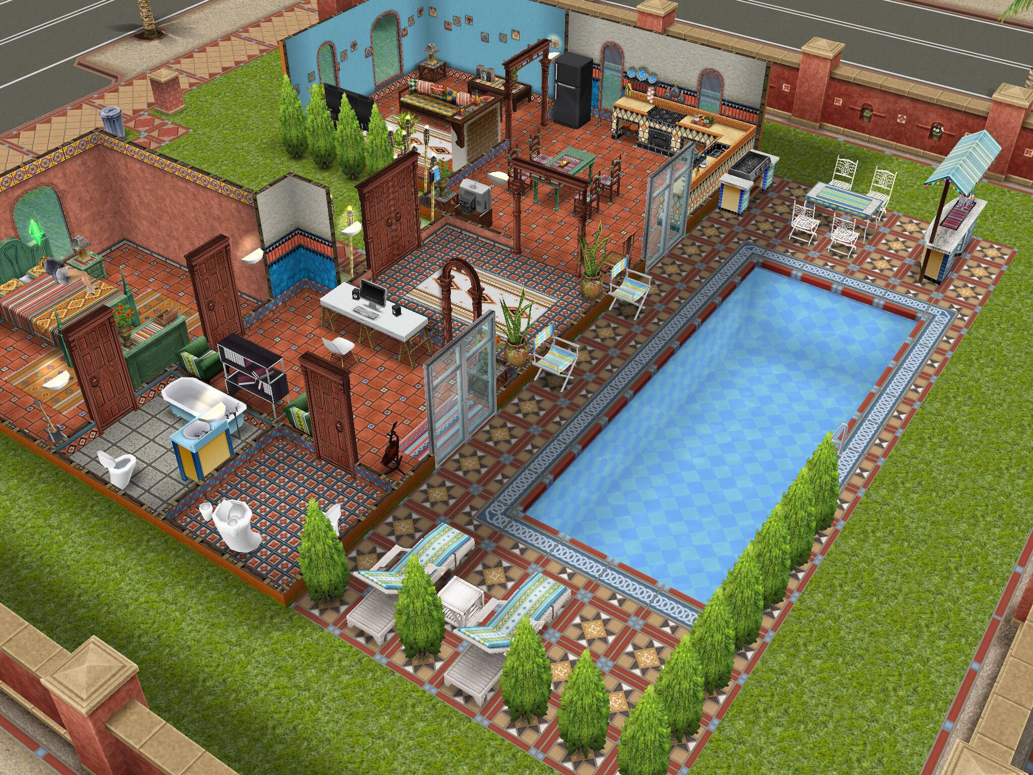 The Villa! Gosh I Wanted This House So Badly!! Sims Freeplay