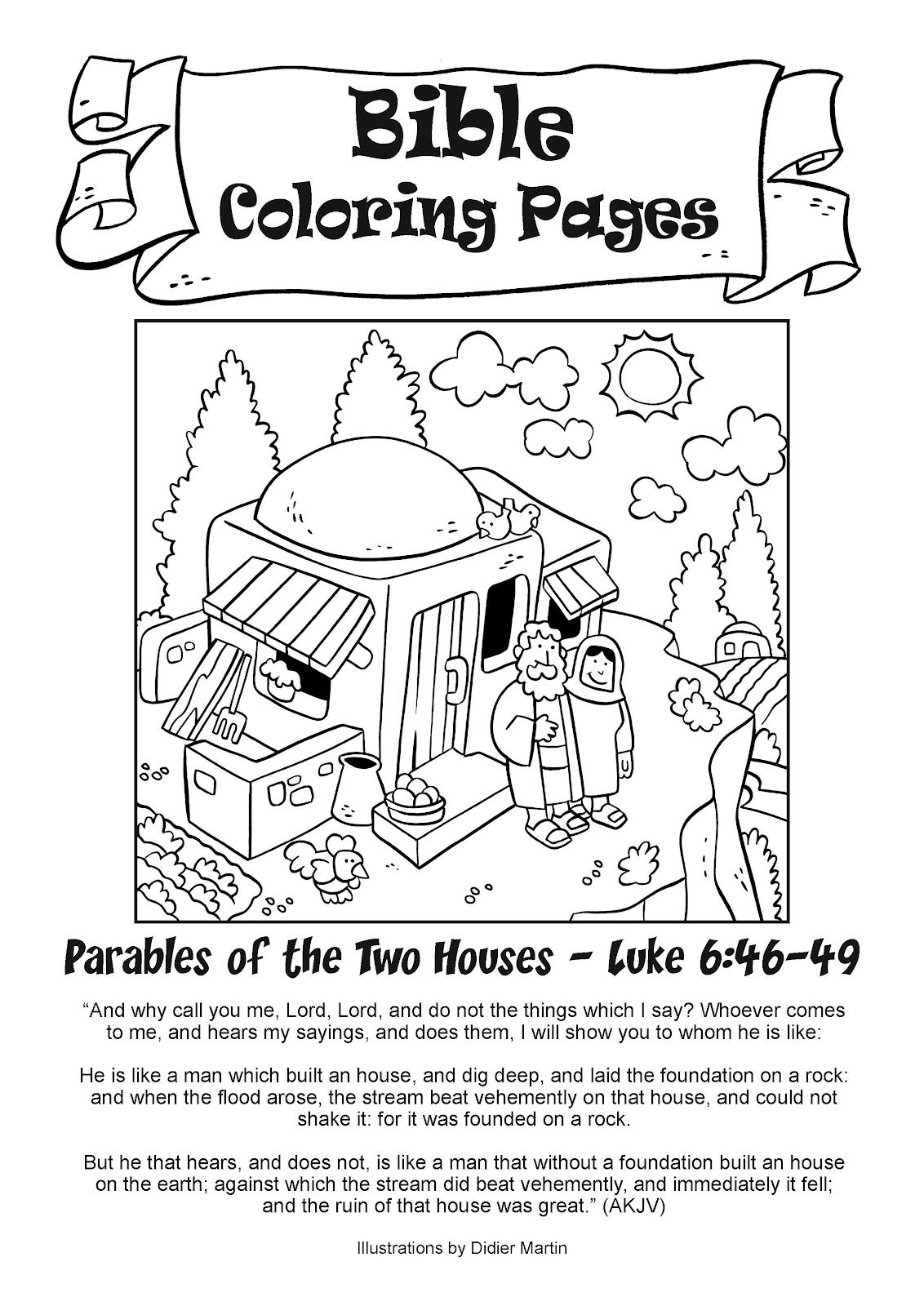 My Little House Bible Coloring Pages
