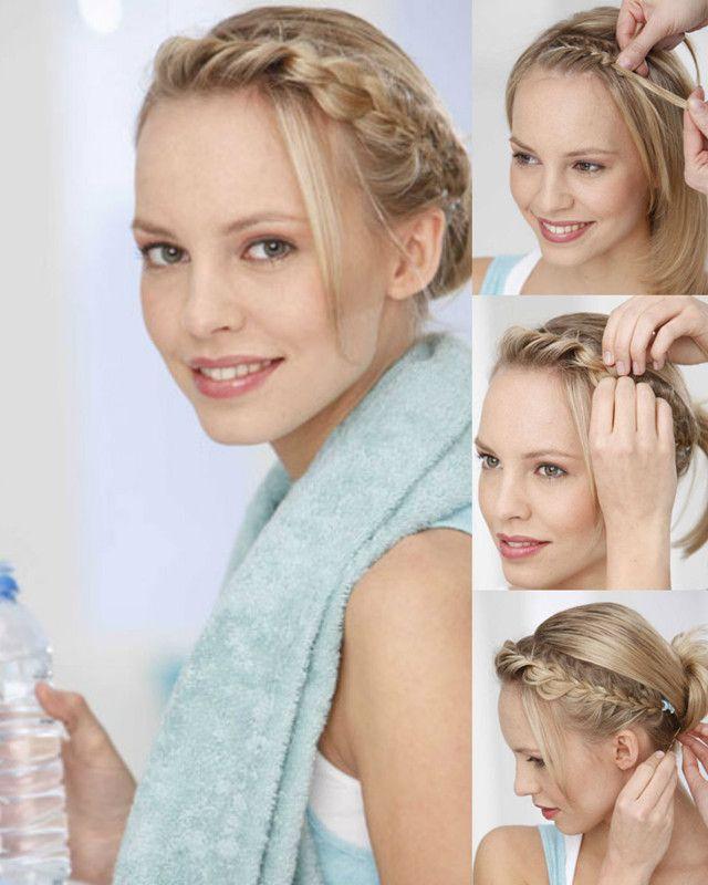 Sportliche Flechtfrisuren Frisuren Und Make Up Pinterest