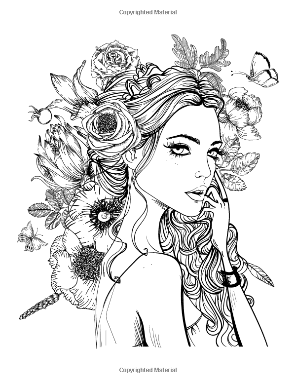 Amazon.com: Faces Coloring Book for Grown-Ups 2 (Volume 2