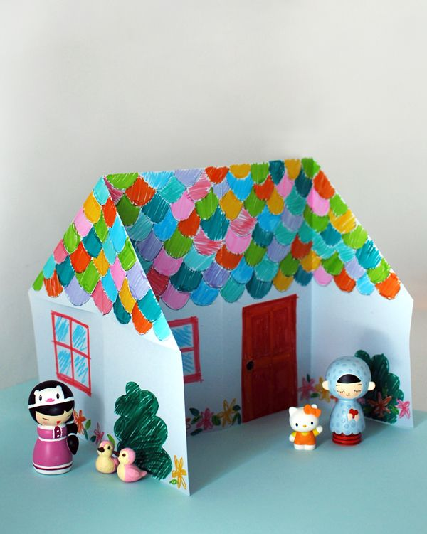 Make An Adorable Origami Dolls House Via A Href= Craft