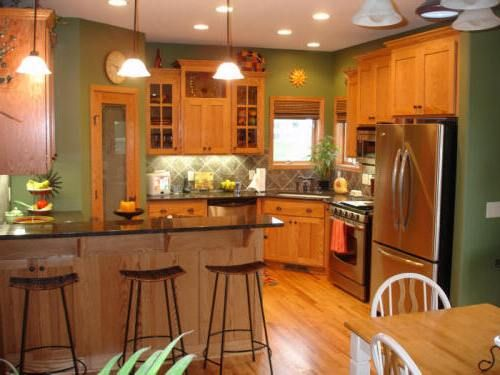 Paint Color Ideas For Kitchen With Oak Cabinets Home Design Bee Uhlxpxkt