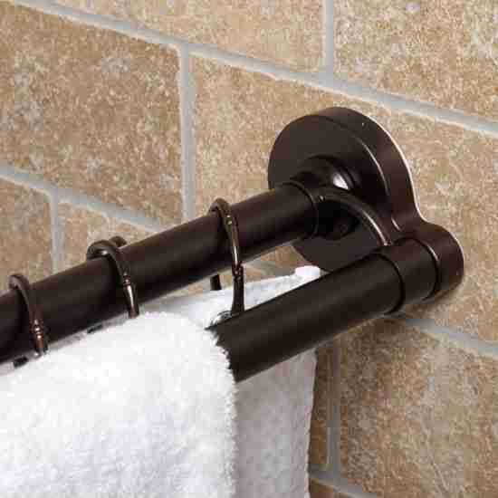 Oil Rubbed Bronze Shower Curtain Rod Curved Shower Curtain Rod
