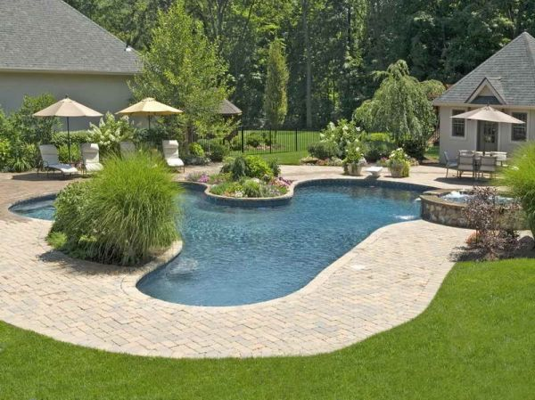 cool landscaping ideas pools