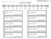 number line worksheets kindergarten free 1 Number Line ...