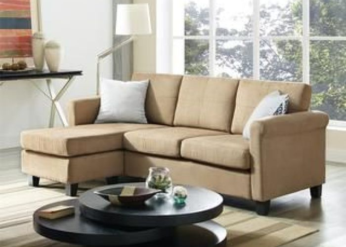 Shop for dorel living small spaces microfiber faux leather configurable sectional sofa get free also