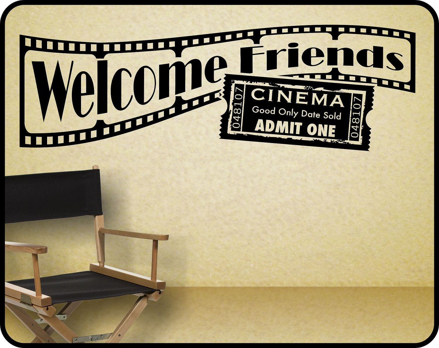 Home Theater Wall Decal sticker decor  Welcome Friends