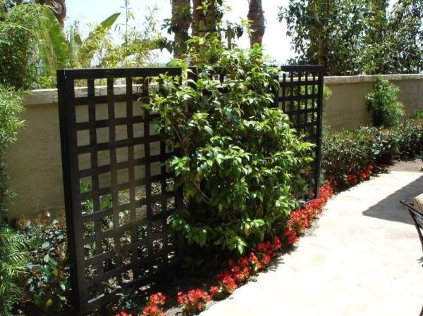 decorative privacy screen front
