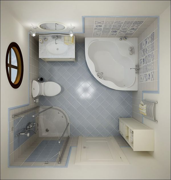 Bathroom Designs For Small Bathrooms Love The Corner Sink! It