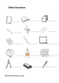 Imagenes De Utiles Escolares En Ingles Para Colorear The
