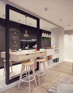 That   show modern interiorsflat interior designcompact housetownhousepolandtiny also kitchen pinterest dining interiors and rh