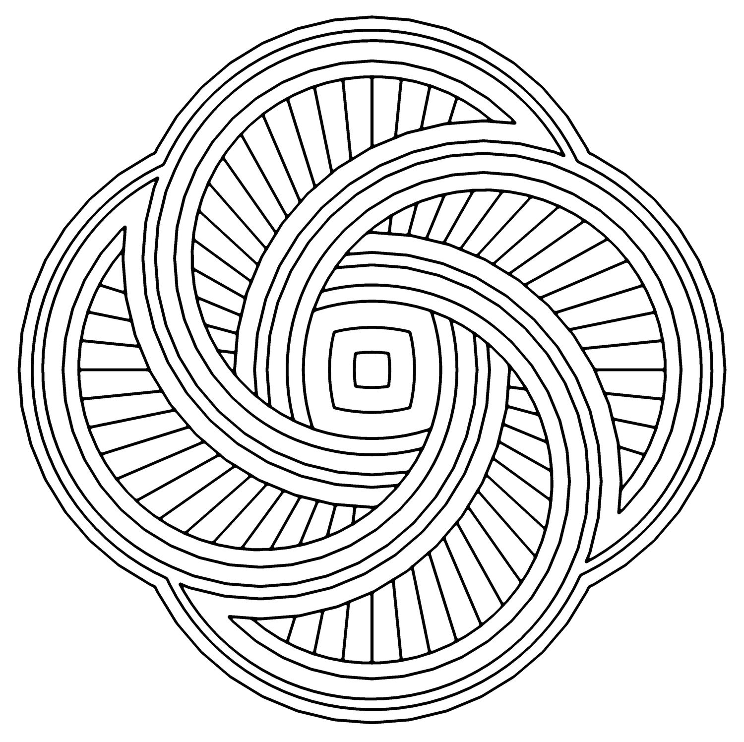 Hurricane Mandala Coloring Pages
