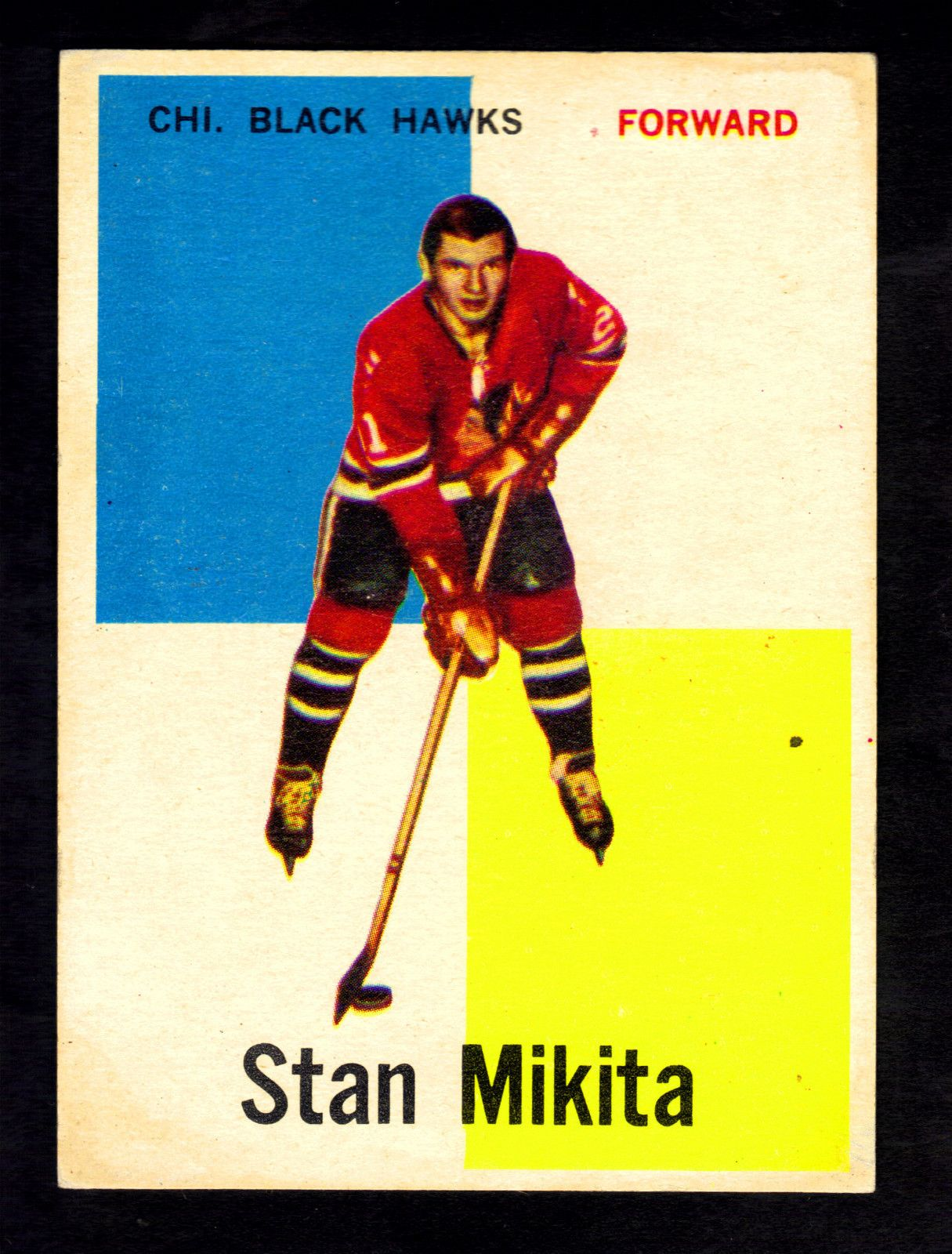 Stan Mikita 1960 Topps 14 Rookie Card Sports Heroes