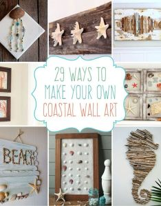 beach crafts coastal diy wall art also ocean and rh za pinterest