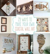 29 Beach Crafts: Coastal DIY Wall Art | Beach crafts, Diy ...