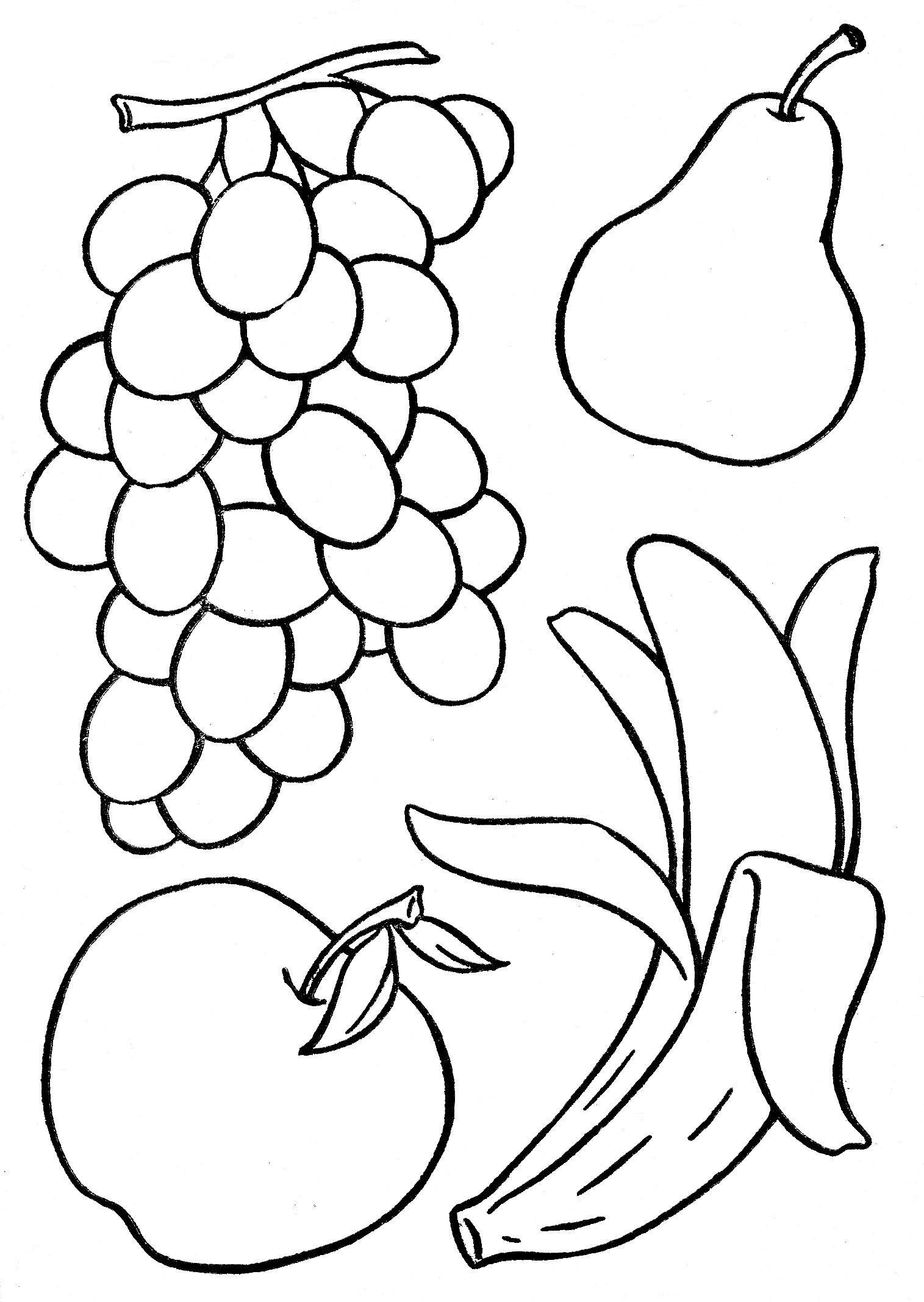 Obst Zum Ausmalen Obst