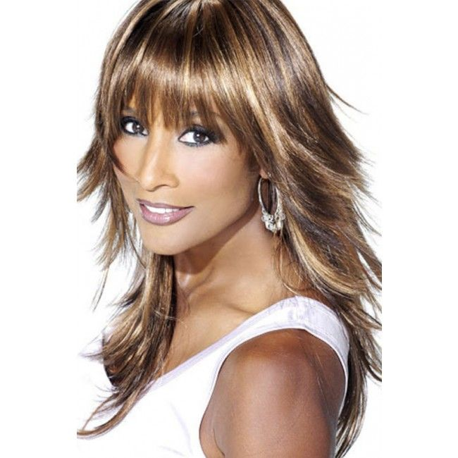 Beverly Johnson Medium Length Layered Hairstyles With Bangs