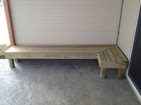 Wrap around patio bench | DIY | Pinterest | Patio bench ...