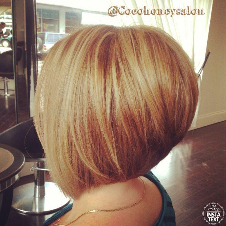 Razor Cut Concave Bob Golden Blonde Base With Lightest Blonde